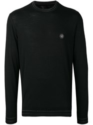 Philipp Plein Logo Plaque Sweater Black