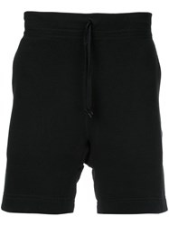 N. Hoolywood Drawstring Waist Shorts Men Cotton 32 Black