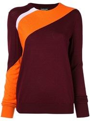 Calvin Klein 205W39nyc Two Tone Jumper Red