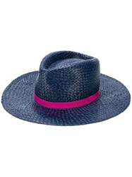 Paul Smith Open Weave Hat Blue