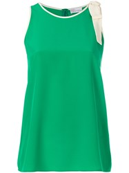 Red Valentino Lace Trim Tank Top Silk Green