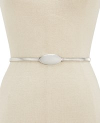 Inc International Concepts Oval Chain Stretch Belt Created For Macy's Silver