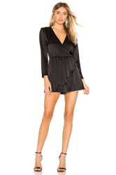 Alice Olivia Demi Ruffled Romper Black
