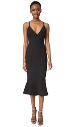 Bec And Bridge Gardenia Plunge Dress Black
