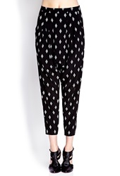 Forever 21 Desert Darling Harem Pants Black White