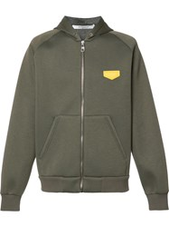Givenchy Logo Plaque Hoodie Green