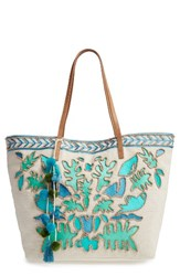 Steve Madden Steven By Embroidered Canvas Tote
