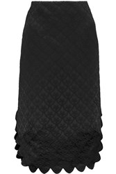 Simone Rocha Cotton Blend Brocade Midi Skirt Black