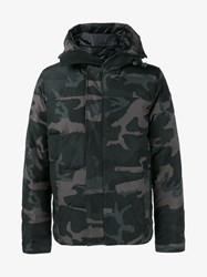 Canada Goose Macmillan Down Filled Camo Parka Black Purple Grey