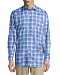 Peter Millar Multi Check Oxford Shirt Imperial
