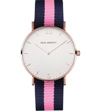 Paul Hewitt Sailor Line Rose Gold And Nato Strap Watch