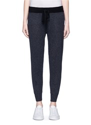 James Perse Cashmere Knit Cropped Genie Sweatpants Grey