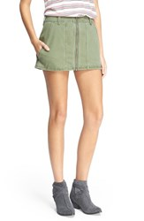 Women's Free People 'Too Cool' Military Miniskirt