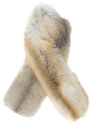 Derek Lam Long Scarf Nude And Neutrals