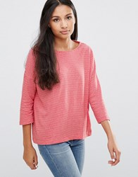 Pepe Jeans Stella Striped Long Sleeves Tee Crayon Red