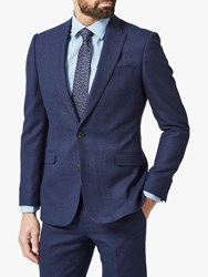 Richard James Mayfair Speckled Wool Tailored Suit Jacket Blue