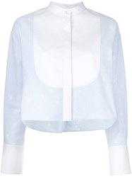Alexander Wang Boxy Fit Shirt Blue
