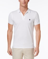Brooks Brothers Red Fleece Men's Knit Pique Cotton Polo White