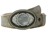 Leather Rock 1569 Silver Gold Women's Belts