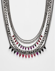 Girls On Film Statement Jewel Necklace Red