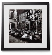 Sonic Editions Framed 1955 Scooters In Rome Print 16 X 20 Black