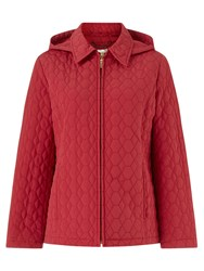 Eastex Honeycomb Hooded Raincoat Red