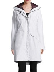 Helly Hansen Faux Fur Hooded Parka Jacket Off White