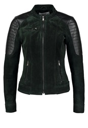 Only Onlblossom Faux Leather Jacket Olive Night Dark Green