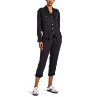 Current Elliott Kaya Washed Twill Belted Jumpsuit Black