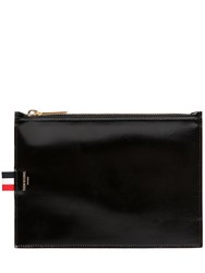 Thom Browne Small Smooth Leather Pouch