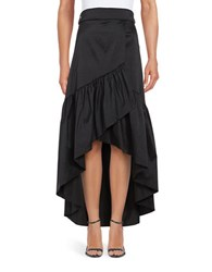 Eliza J Ruffled Hi Lo Skirt Black