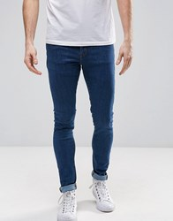 Dr. Denim Dr Leroy Drop Crotch Super Skinny In Organic Cotton Mid Retro Blue