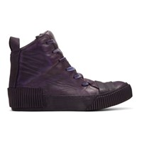 Boris Bidjan Saberi Purple Horse High Top Sneakers
