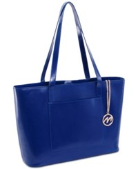 Mcklein Alyson Leather Tote Navy