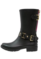 Colors Of California Wellies Black Fuchsia