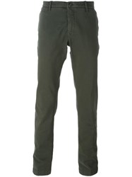 Jacob Cohen Academy Straight Leg Chinos Green