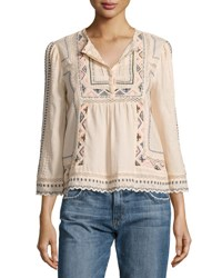 Rebecca Taylor Esme Embroidered Peasant Top Ballet Combo