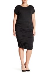 Vince Camuto Ruched Sheath Dress Plus Size Gray