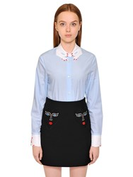 Vivetta Hands Embroidered Cotton Poplin Shirt