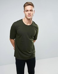 Sisley T Shirt With Back Raglan Detail Kahki 34B Green