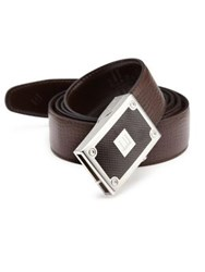 Dunhill Box Frame Buckle Leather Belt Brown