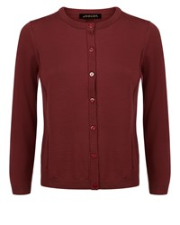 Jaeger Gostwyck Seam Detail Cardigan Red