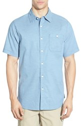 The North Face Men's 'Red Point' Active Fit Stripe Sport Shirt Moonlight Blue