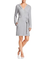 Splendid Intimates Hooded Thermal Robe Medium Marled Heather