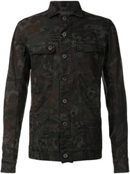 11 By Boris Bidjan Saberi '11 Camo' Denim Jacket Green