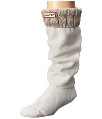 Hunter 6 Stitch Cable Boot Sock Greige Women's Crew Cut Socks Shoes Brown