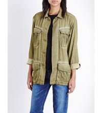 Basic Terrain Acid Wash Cotton Military Jacket Army