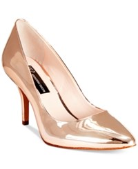 Inc International Concepts Women's Zitah Pointed Toe Pumps Only At Macy's Women's Shoes Rose Gold