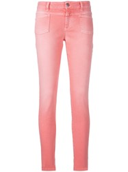 Closed Skinny Jeans Pink And Purple