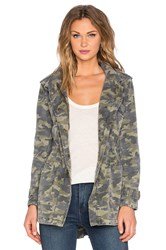 Velvet By Graham And Spencer Darla Army Long Sleeve Tied Waist Front Zipper Jacket